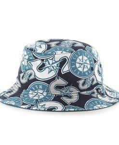 Seattle Mariners Bravado Bucket White 47 Brand Hat