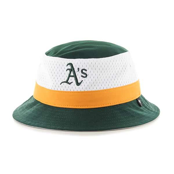 Oakland Athletics Double Line Bucket Dark Green 47 Brand Hat