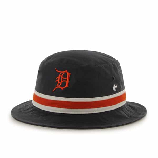 Detroit Tigers Striped Bucket Bright Navy 47 Brand Hat