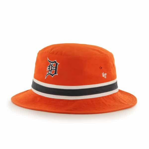 Detroit Tigers 47 Brand Orange Striped Bucket Hat