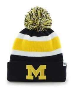 Michigan Wolverines Breakaway Cuff Knit Navy 47 Brand Hat