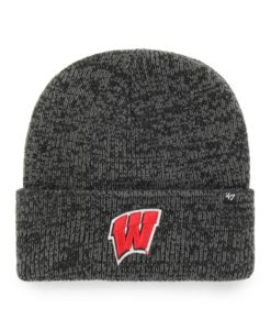 Wisconsin Badgers 47 Brand Black Brain Freeze Cuff Knit Hat