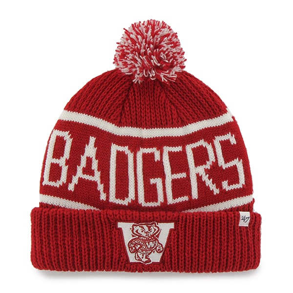 Wisconsin Badgers 47 Brand Red Calgary Winter Cuff Knit Hat