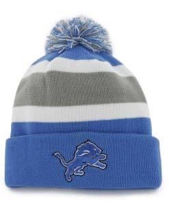 Detroit Lions Breakaway Cuff Knit Blue Raz 47 Brand Hat