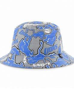Detroit Lions 47 Brand Gray Blue Bravado Bucket Hat