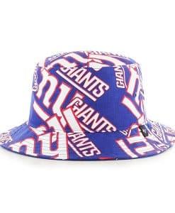 New York Giants 47 Brand Blue Bravado Bucket Hat