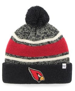 Arizona Cardinals Fairfax Cuff Knit Black 47 Brand Hat