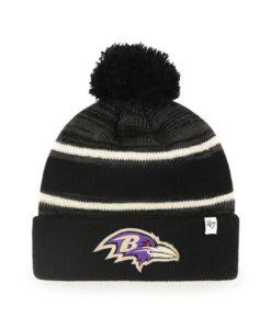 Baltimore Ravens 47 Brand Black Fairfax Cuff Knit Hat
