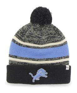 Detroit Lions Fairfax Cuff Knit Black 47 Brand Hat