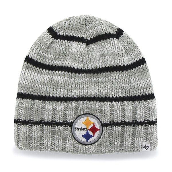 Pittsburgh Steelers 47 Brand Gray Mcmahon Knit Beanie Hat