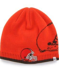 Cleveland Browns 47 Brand Orange Peaks Thunder Beanie Hat
