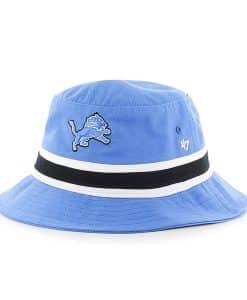 Detroit Lions Striped Bucket Bright Blue Raz 47 Brand Hat