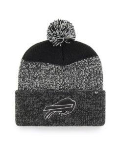 Buffalo Bills 47 Brand Black Static Cuff Knit Hat