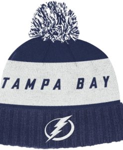 Tampa Bay Lightning Adidas Dark Blue Cuff Knit Hat