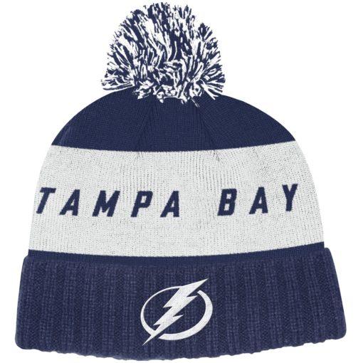 Tampa Bay Lightning Adidas Dark Blue Cuff Knit Hat