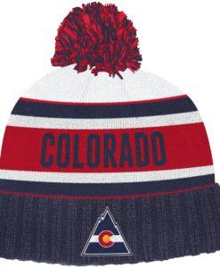 Colorado Rockies NHL Adidas Dark Blue Cuff Knit Hat