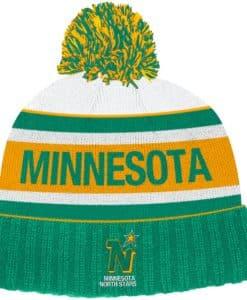 Minnesota North Stars Adidas Emerald Cuff Knit Hat