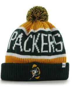 Green Bay Packers Calgary Cuff Knit Cheddar 47 Brand Hat