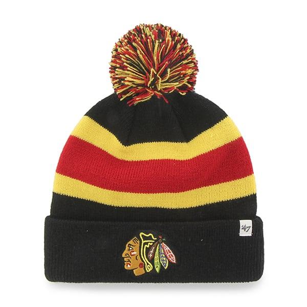 Chicago Blackhawks Breakaway Cuff Knit Black 47 Brand Hat