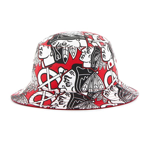 Chicago Blackhawks Bravado Bucket White 47 Brand Hat