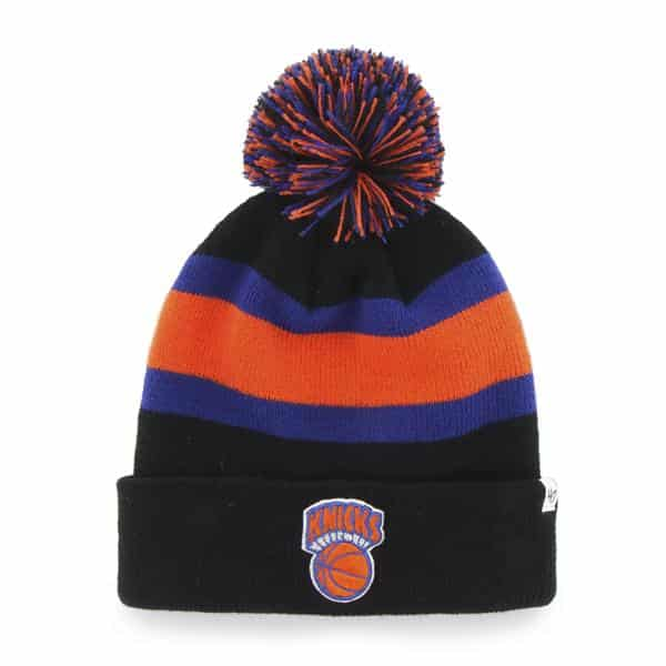 New York Knicks YOUTH 47 Brand Black Breakaway Cuff Knit Hat