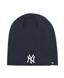 New York Yankees 47 Brand Navy Raised Beanie Hat
