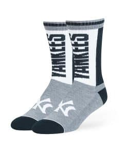 New York Yankees LARGE 47 Brand Slate Gray Crew Socks