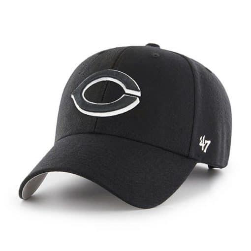 Cincinnati Reds 47 Brand Black MVP Adjustable Hat