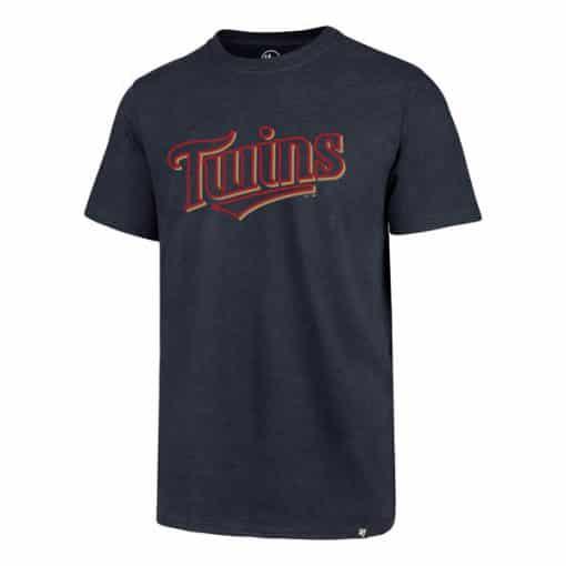 Minnesota Twins Men's 47 Brand Fall Navy Club T-Shirt Tee