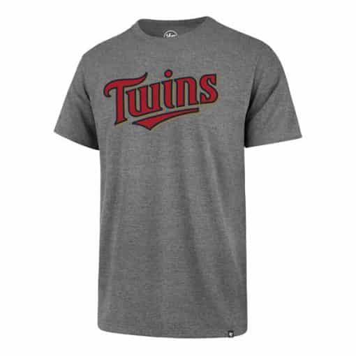 Minnesota Twins Men's 47 Brand Slate Gray Rival T-Shirt Tee