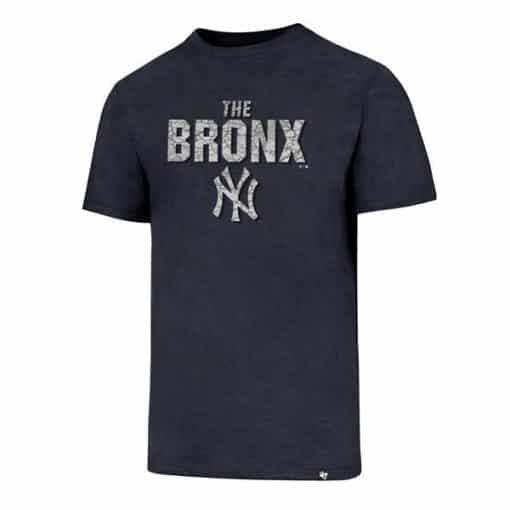 New York Yankees Men's 47 Brand The Bronx Navy T-Shirt Tee