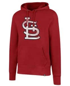 St. Louis Cardinals Men's 47 Brand Red Headline Pullover Hoodie