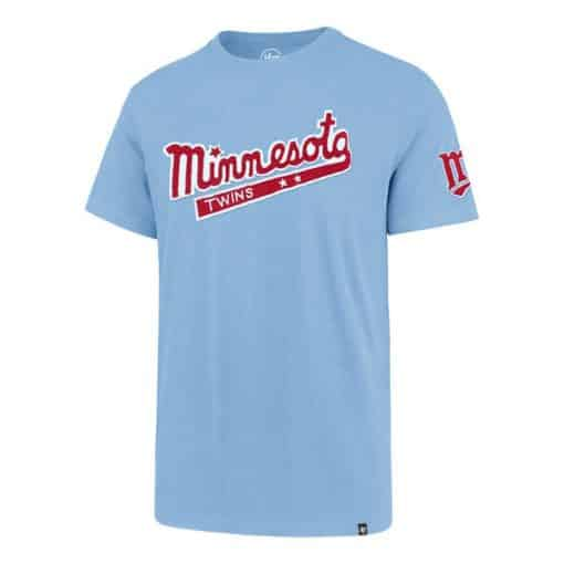 Minnesota Twins Men's 47 Brand Vintage Carolina Blue T-Shirt Tee