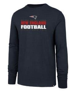 New England Patriots Men's 47 Brand Navy Long Sleeve Pullover Shirt