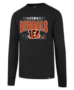 Cincinnati Bengals Men's 47 Brand Black Long Sleeve Pullover Shirt