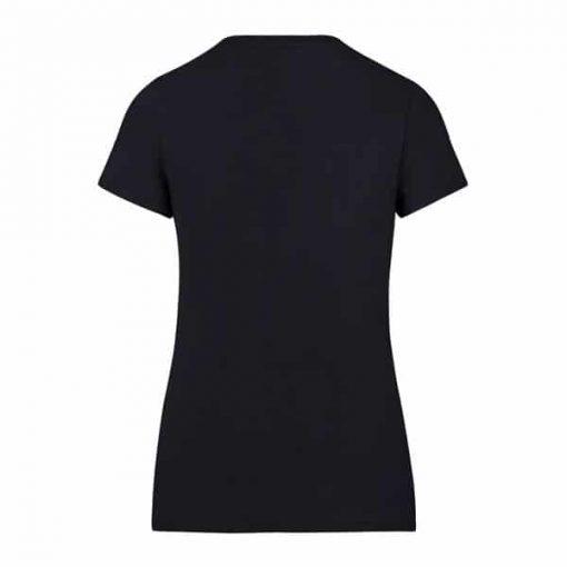 New England Patriots 47 Brand Women's Lux Sequins Midnight V-Neck Shirt Back