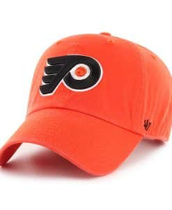 Philadelphia Flyers 47 Brand Orange Clean Up Adjustable Hat