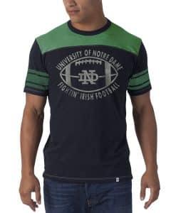 Notre Dame Fightin Irish Top Gun T-Shirt Mens Fall Navy 47 Brand