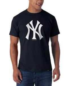 New York Yankees Frozen Rope T-Shirt Mens Slim Fall Navy 47 Brand