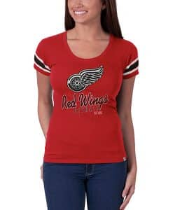 Detroit Red Wings Women's Rebound Red 47 Brand Off Campus Scoop Shirt