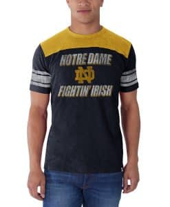 Notre Dame Fightin Irish Title Run T-Shirt Mens Fall Navy 47 Brand