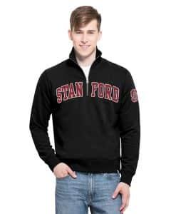 Stanford Cardinal Men's XL 47 Brand Black 1/4 Zip Pullover