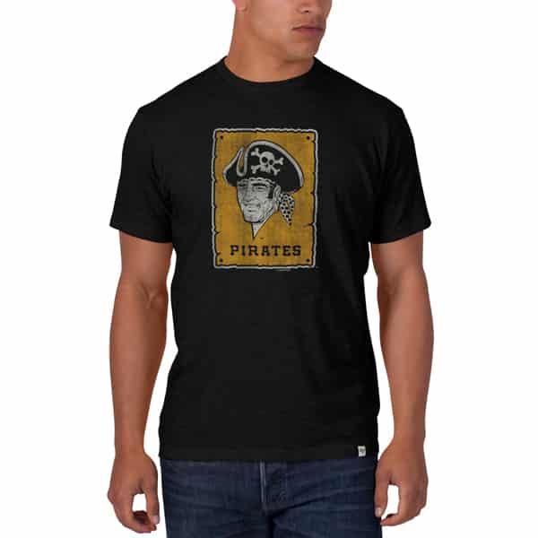 Pittsburgh Pirates Men's 47 Brand Black Scrum T-Shirt Tee