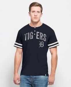 Detroit Tigers Huntington Henley Mens Fall Navy 47 Brand