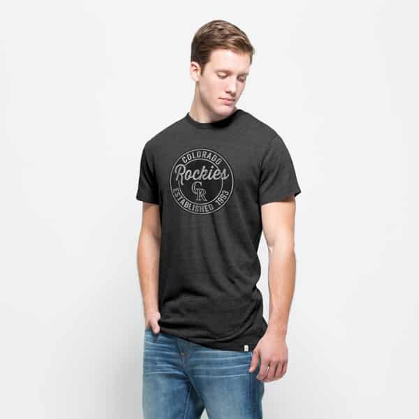 Colorado Rockies Tri-State T-Shirt Mens Carbon Black 47 Brand