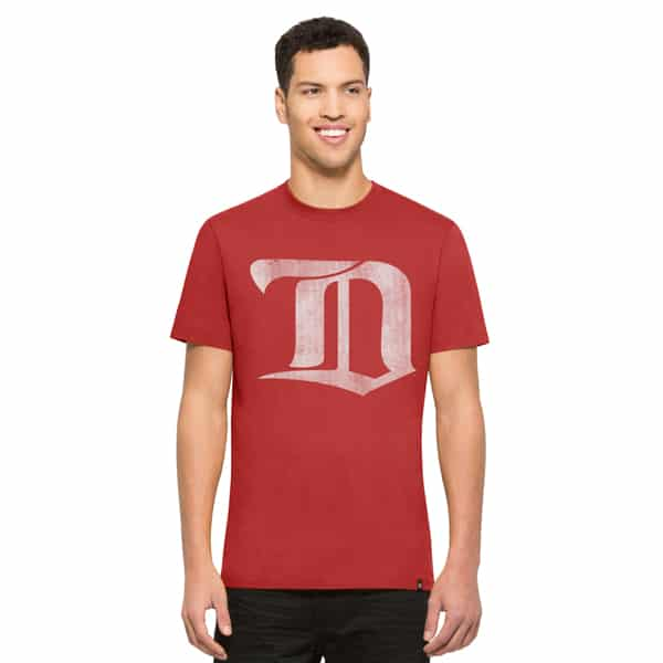 Detroit Red Wings Knockaround Flanker T-Shirt Mens Rescue Red 47 Brand