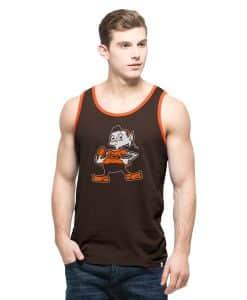 Cleveland Browns Men's 47 Brand Vintage Logo Dark Brown Tank Top
