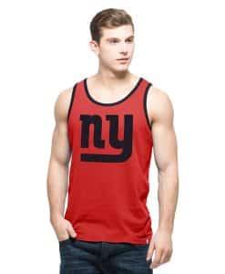 New York Giants Crosstown Tank Top Mens Rebound Red 47 Brand