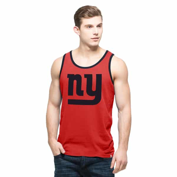 New York Giants Crosstown Tank Top Mens Rebound Red 47 Brand