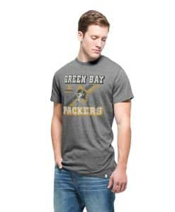 Green Bay Packers Men's 47 Brand Vintage Grey T-Shirt Tee